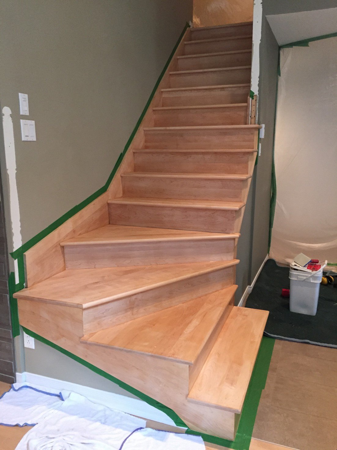 After Wooden Stairs